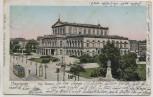 AK Hannover Kgl. Theater mit Strassenbahn 1905