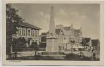 AK Otterndorf Denkmal mit Bahnhofstrasse 1926 RAR