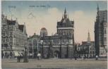 VERKAUFT !!!    AK Danzig Partie am Hohen Tor Gdańsk Polen 1910