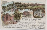 AK Litho Helmstedt Ortsansicht Bad Schule Waldfriede 1898
