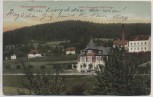 AK Oberneuschönberg Hotel Restaurant Villa Carola mit Holzwarenfabrik Günzel b. Olbernhau 1906 RAR