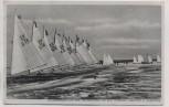 AK Angerburg Eissegelregatta auf dem Schwenzaitsee vor dem Waldhaus Jägerhöhe Ostpreußen Polen Feldpost 1941