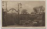 AK Plauen im Vogtland Trömel's Garten Terrasse und Garteneingang mit Blick zur Kirche 1920