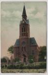 AK Hochheide Ev. Kirche mit Menschen Duisburg-Homberg 1911 RAR
