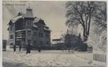 AK Zöblitz Schulstraße im Winter mit Menschen b. Marienberg 1920 RAR