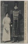 AK Riese Paul Herold und Frau aus Sachsen 2,36 m groß 1915
