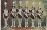 VERKAUFT !!!   AK 6 Original Dornfels Ensemble Theatergruppe Frauen mit Gewehr Leipzig Naunhof 1900 RAR