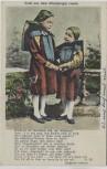 AK Gruß aus dem Altenburger Lande 2 Kinder Schule Thrüringische Tracht Altenburg 1910