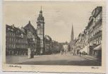 AK Foto Altenburg Markt mit Rathaus und Kirche 1950