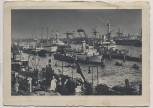 VERKAUFT !!!   AK Hamburg Kriegsschiffe im Hamburger Hafen Feldpost 1941
