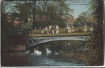 AK Düsseldorf Goldne Brücke im Hofgarten 1912