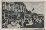 AK Ostseebad Travemünde Kurhaus mit Terrasse viele Menschen 1930