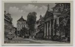 AK Foto Plauen im Vogtland Am Stadttheater mit Strassenbahn 1930