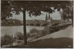 AK Foto Frankfurt an der Oder Oderbrücke mit Kirche 1920