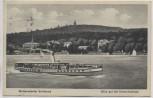 AK Woltersdorfer Schleuse Blick auf die Kranichsberge Dampfer Oberbürgermeister Zelle b. Erkner 1932