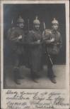 VERKAUFT !!!   AK 3 Soldaten Pickelhaube Gewehr Feldpost Abs.: Vereins-Lazarett Brenzhaus Schwäbisch Hall 1916