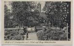 VERKAUFT !!!   AK Halle an der Saale Amtsgarten mit Blick auf Burg Giebichenstein 1943