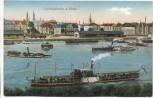 VERKAUFT !!!   AK Ludwigshafen am Rhein viele Dampfer 1918