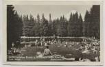 AK Foto Oberhof Schwimmbad viele Menschen Thüringer Wald 1955