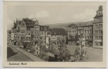 AK Foto Rudolstadt Markt 1955