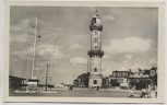 AK Foto Warnemünde Leuchtturm b. Rostock 1956
