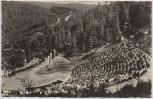 AK Foto Naturtheater Meininger Theater viele Menschen Steinbach-Langenbach b. Schleusegrund Landpoststempel 1958