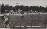 AK Foto Neustädtel im Erzgebirge Strandbad Bergsee Filzteich viele Menschen 1935