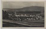 AK Foto Zwiesel mit dem Rachel Ortsansicht mit Kiche 1930