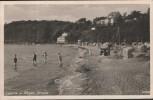 VERKAUFT !!!   AK Lietzow a. Rügen Strand mit Menschen Häusern b. Bergen Ostsee 1943