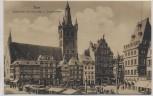 AK Trier Hauptmarkt mit rotes Haus u. Gangolfskirche 1910