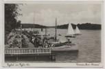 VERKAUFT !!!   AK Foto Berlin Tegelort am Tegeler See Restaurant Zum Schwan Terrasse mit Menschen und Booten Konradshöhe 1932