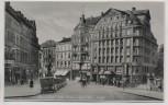 AK Foto Saarbrücken Ecke Reichs- u. Adolf-Hitler-Straße Hotel Excelsior viele Autos 1935