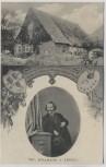 AK Wiedensahl Geburtshaus W. Busch Bildnis 1860 b. Stadthagen 1908