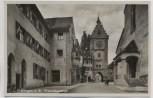 AK Foto Überlingen am Bodensee Franziskanertor mit Haus Der Seebote 1935