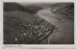 VERKAUFT !!!   AK Foto Trechtingshausen am Rhein Ortsansicht Totale 1935