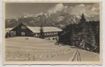 AK Foto Wannenkopfhütte im Winter b. Fischen im Allgäu 1935