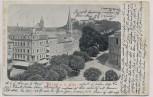 AK Pirna an der Elbe Ortsansicht mit Kirche und Schloss Sonnenschein 1906