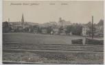AK Plauenscher Grund ( Döhlen ) Ortsansicht mit Schule und Rathaus Bahngleis im Bau Freital 1905 RAR Sammlerstück