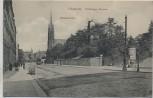 AK Chemnitz Stollberger Strasse Nikolaikirche Menschen mit Straßenbahn 1915 RAR Sammlerstück