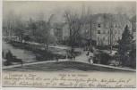 AK Frankfurt an der Oder Partie in den Anlagen Häuser viele Menschen 1905 RAR