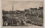 AK Foto Elbing Hafen Innenhafen viele Schiffe Ostpreußen Elbląg Polen 1935