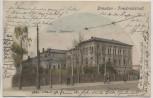 AK Friedrichstadt Dresden Lehrer-Seminar mit Menschen 1905 RAR