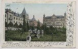AK Dresden Sachsenplatz mit Jäger-Kaserne Kanone 1907