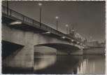 AK Foto Bremen Große Weserbrücke bei Nacht Sonderstempel Erstausgabe 1965