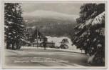 AK Foto Riesengebirge Adolfbaude mit kleiner Sturmhaube im Winter b. Špindlerův Mlýn Spindlermühle Sudetengau Tschechien Feldpost 1942
