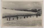 AK Foto Riesengebirge Skiunterricht an der Wiesenbaude b. Spindlermühle Špindlerův Mlýn Schlesien Tschechien Feldpost 1942