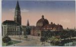AK Kiel Rathaus und Stadttheater Marine Feldpost 1916