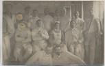 VERKAUFT !!!   AK Foto Helgoland Marinelazarett Gruppenbilld 1. WK Feldpost 1915