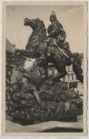 AK Foto Olmütz Cäsarbrunnen Olomouc Stempel Böhmen und Mähren Lager C Repfchein Tschechien 1941 RAR