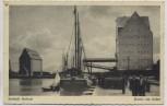AK Seestadt Rostock Partie am Hafen Schiff Emil Hamburg Feldpost 1939